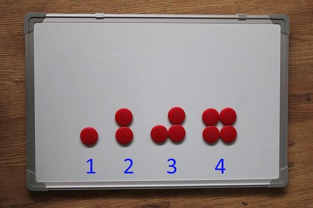 magnetická tabule na počítání